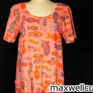 Fresh produce orange dress fish cotton new medium